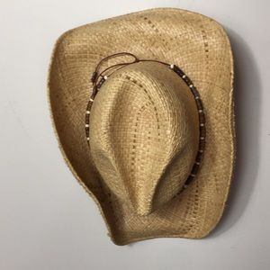 Vintage Stetson cowgirl straw hat size large
